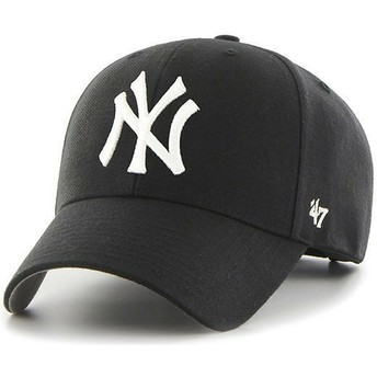 47 Brand Curved Brim Youth New York Yankees MLB MVP Black Cap