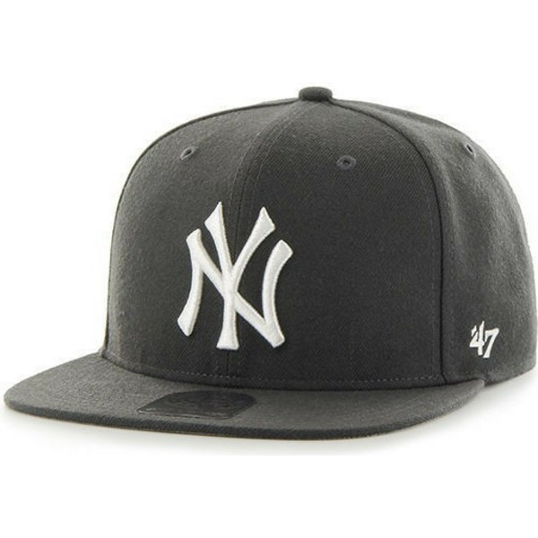 47-brand-flat-brim-new-york-yankees-mlb-captain-black-snapback-cap