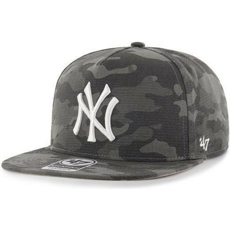 47-brand-flat-brim-new-york-yankees-mlb-captain-dt-black-camouflage-snapback-cap