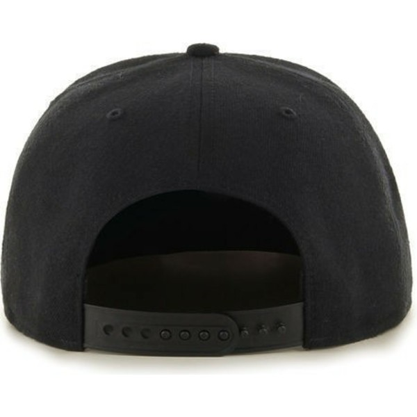 47-brand-flat-brim-pittsburgh-penguins-nhl-captain-black-snapback-cap