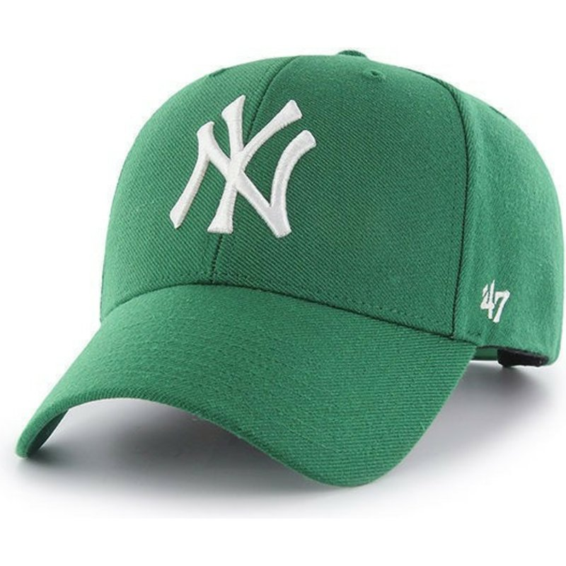47-brand-curved-brim-new-york-yankees-mlb-mvp-green-snapback-cap
