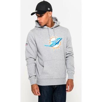 New Era Miami Dolphins NFL Grey Pullover Hoodie Sweatshirt