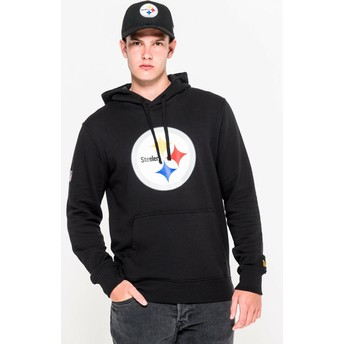 New Era Pittsburgh Steelers NFL Black Pullover Hoodie Sweatshirt