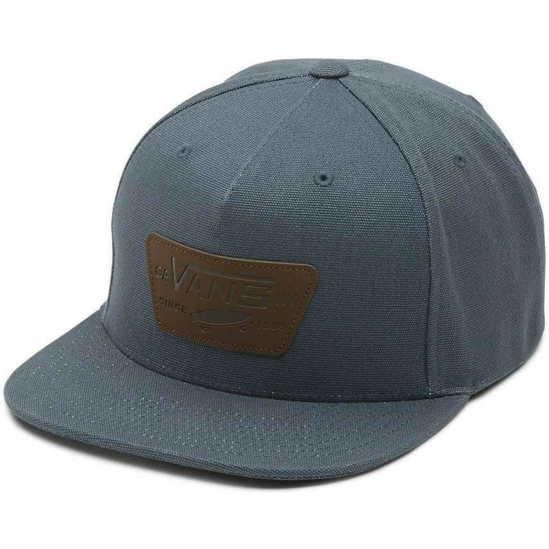 vans-x-starter-flat-brim-brown-full-patch-grey-snapback-cap