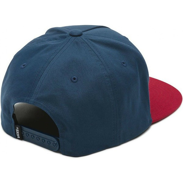 vans-flat-brim-side-stripe-navy-blue-snapback-cap-with-red-visor