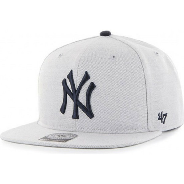 47-brand-flat-brim-new-york-yankees-mlb-boreland-captain-rf-grey-snapback-cap