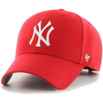 47 Brand Curved Brim New York Yankees MLB MVP Red Cap