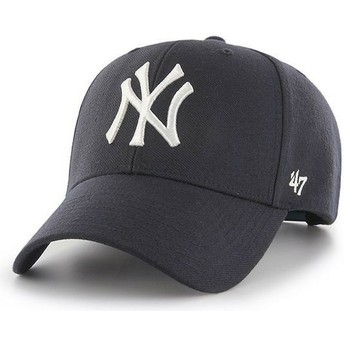 47 Brand Curved Brim New York Yankees MLB MVP Navy Blue Snapback Cap