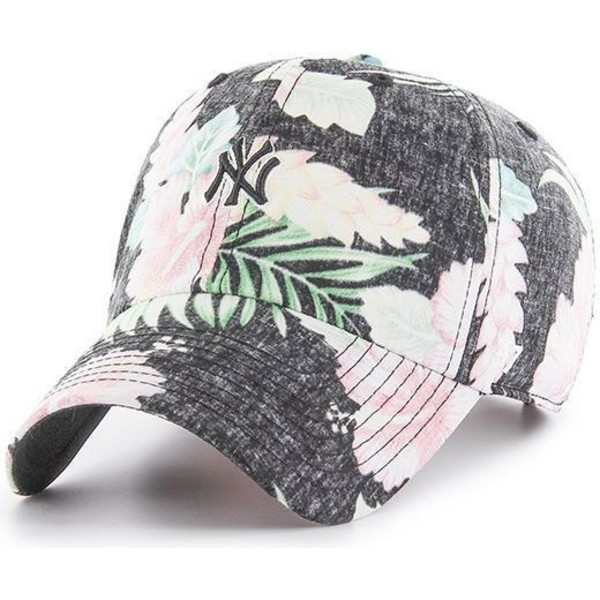 47-brand-curved-brim-new-york-yankees-mlb-stigma-mini-clean-up-floral-print-grey-cap