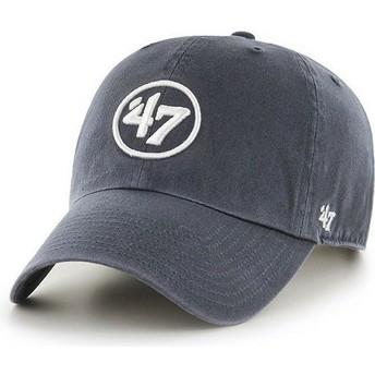 47 Brand Curved Brim 47 Logo Clean Up Navy Blue Cap