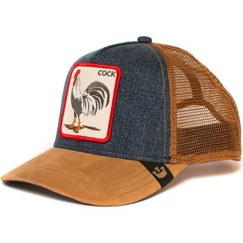 Goorin Bros. Rooster Big Strut Brown and Denim Trucker Hat