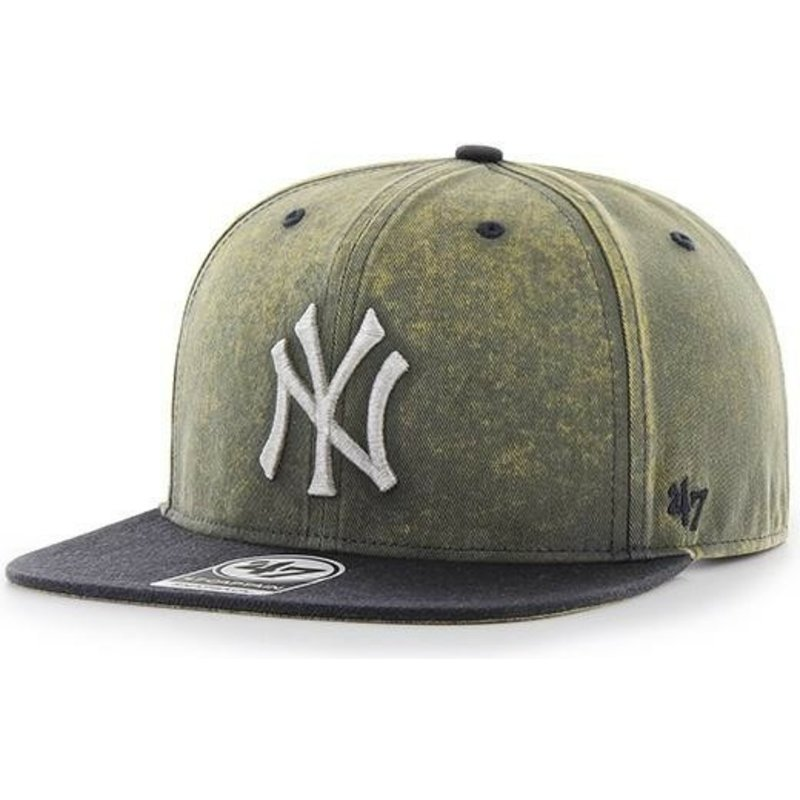 47-brand-flat-brim-new-york-yankees-mlb-captain-cement-navy-blue-cap