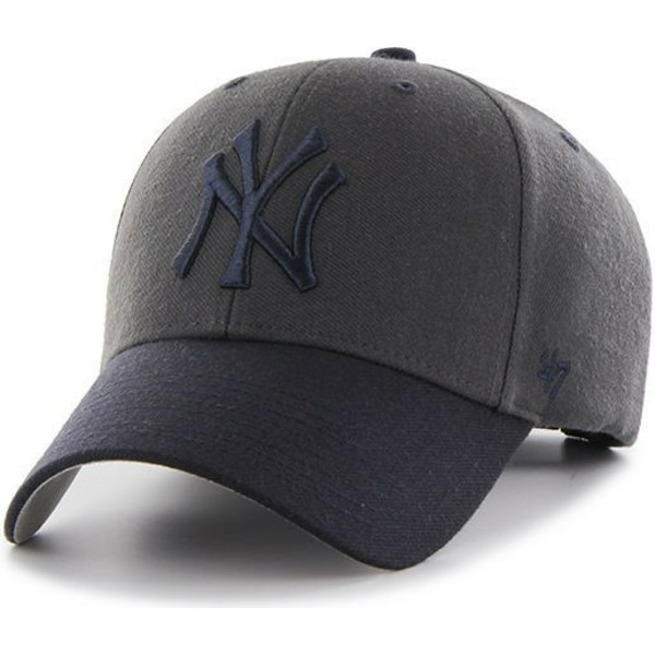 47-brand-curved-brim-new-york-yankees-mlb-mvp-audible-2-tone-black-cap