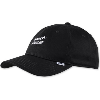 Djinns Curved Brim Texting Beach Please Black Adjustable Cap