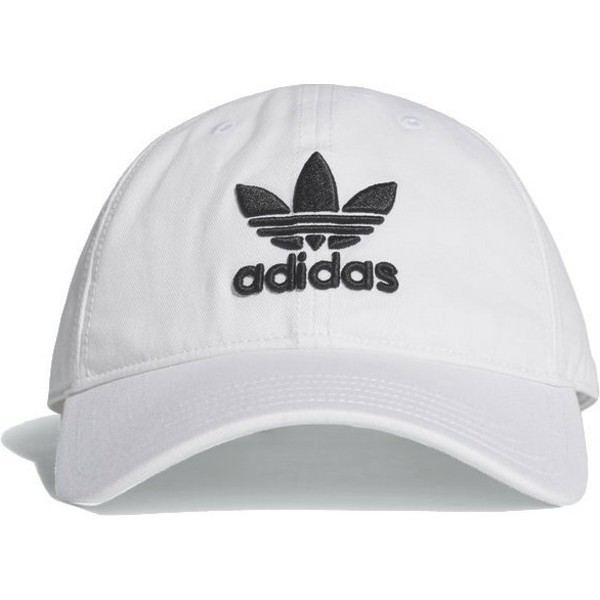 adidas-curved-brim-trefoil-classic-white-adjustable-cap
