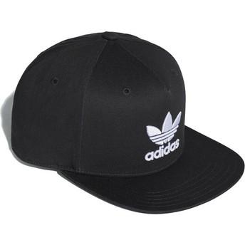 Adidas Flat Brim Trefoil Black Snapback Cap