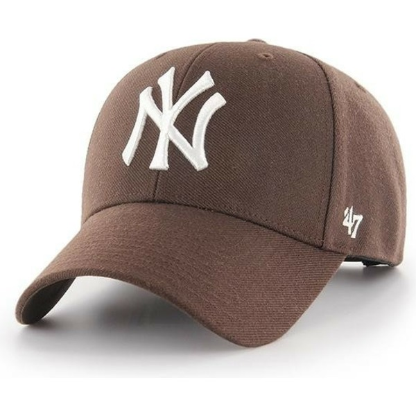 47-brand-curved-brim-new-york-yankees-mlb-mvp-brown-snapback-cap