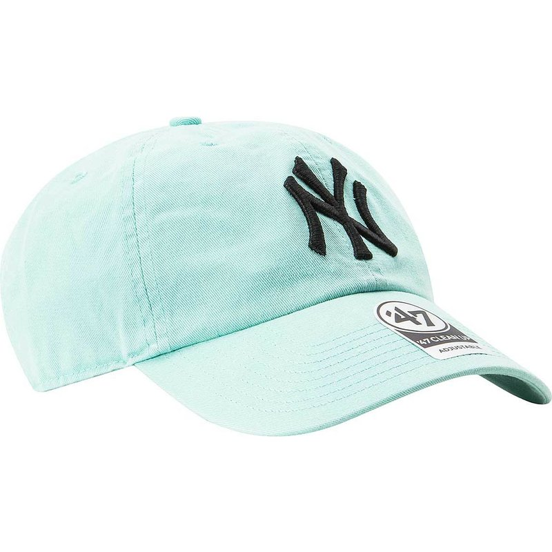 47-brand-curved-brim-new-york-yankees-mlb-clean-up-tiffany-blue-cap