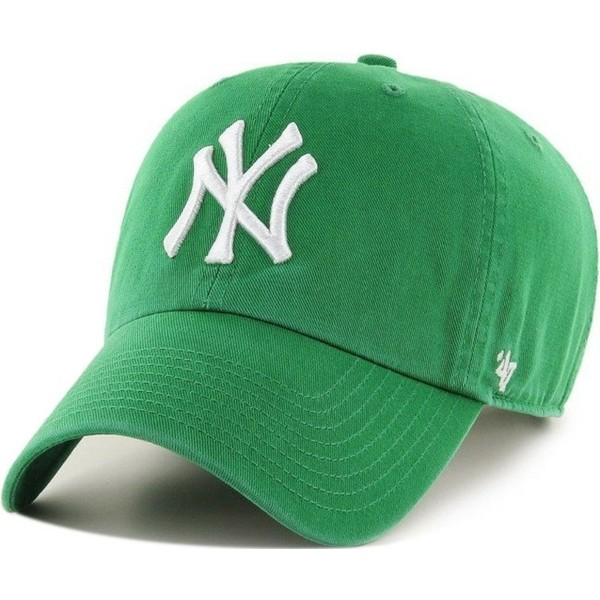 47-brand-curved-brim-new-york-yankees-mlb-clean-up-green-cap