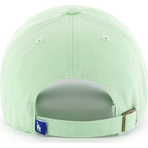 47-brand-curved-brim-los-angeles-dodgers-mlb-clean-up-light-green-cap