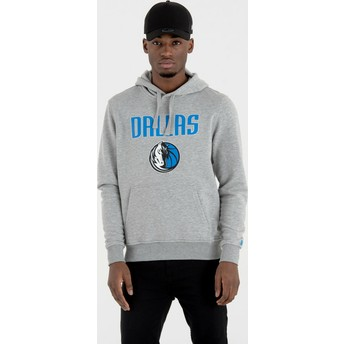 New Era Dallas Mavericks NBA Grey Pullover Hoody Sweatshirt