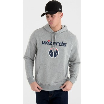New Era Washington Wizards NBA Grey Pullover Hoody Sweatshirt