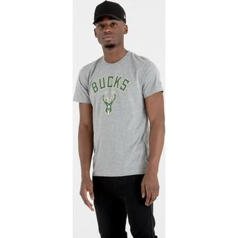 New Era Milwaukee Bucks NBA Grey T-Shirt