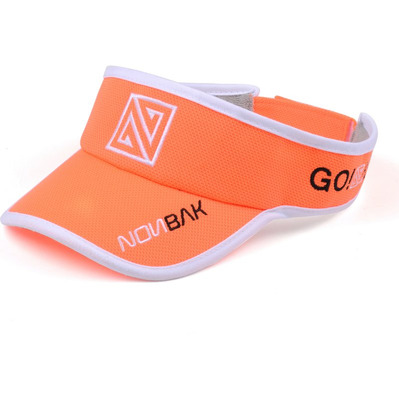 nonbak-anti-sweat-orange-adjustable-visor