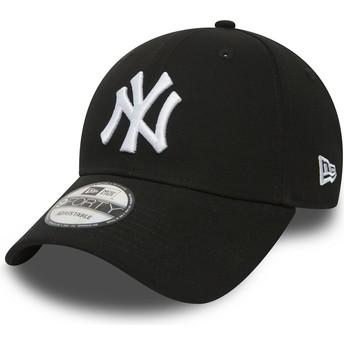 New Era Curved Brim 9FORTY Essential New York Yankees MLB Black Adjustable Cap