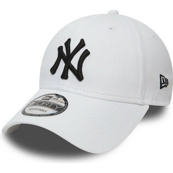New Era Curved Brim 9FORTY Essential New York Yankees MLB White Adjustable Cap
