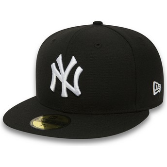 New Era Flat Brim 59FIFTY Essential New York Yankees MLB Black Fitted Cap