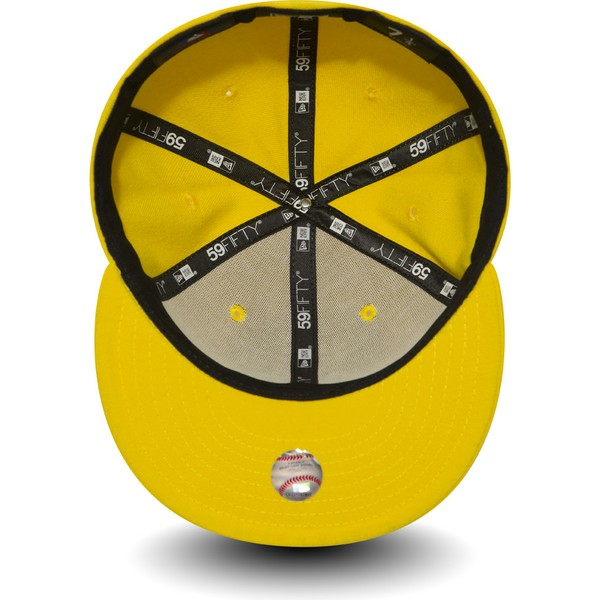 new-era-flat-brim-dark-yellow-9fifty-essential-new-york-yankees-mlb-yellow-fitted-cap