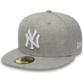 New Era Flat Brim 9FIFTY Essential New York Yankees MLB Grey Fitted Cap