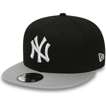 New Era Flat Brim 9FIFTY Cotton Block New York Yankees MLB Black Snapback Cap