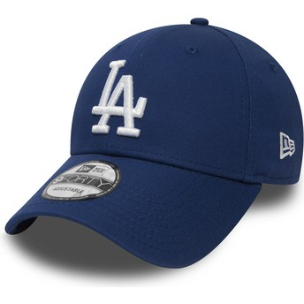 New Era Curved Brim 9FORTY Essential Los Angeles Dodgers MLB Blue Adjustable Cap