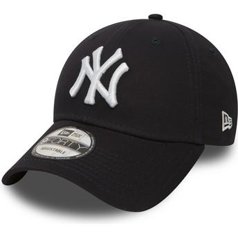 New Era Curved Brim 9FORTY Essential New York Yankees MLB Navy Blue Adjustable Cap