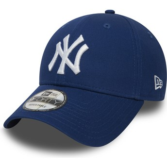 New Era Curved Brim 9FORTY Essential New York Yankees MLB Blue Adjustable Cap