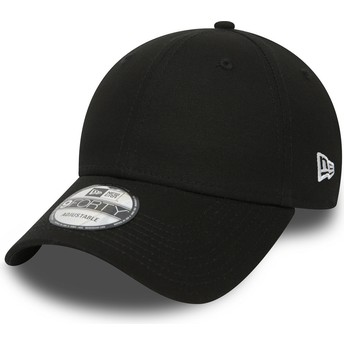New Era Curved Brim 9FORTY Basic Flag Black Adjustable Cap