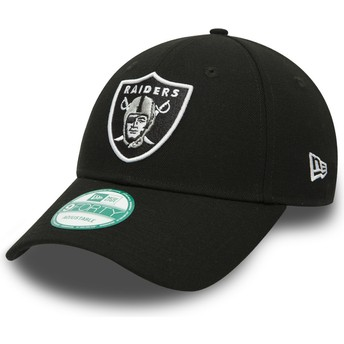 New Era Curved Brim 9FORTY The League Oakland Raiders NFL Black Adjustable Cap