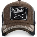 von-dutch-curved-brim-arrow02-brown-adjustable-cap