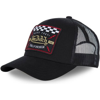 Von Dutch Curved Brim BLACKY4 Black Adjustable Cap