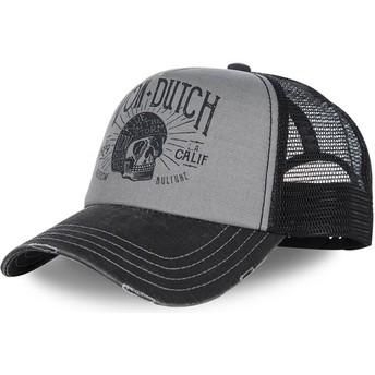 Von Dutch Curved Brim CREW1 Grey and Black Adjustable Cap
