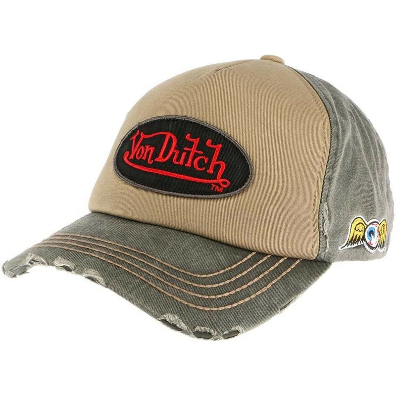 von-dutch-curved-brim-lars02-brown-and-green-adjustable-cap