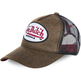 Von Dutch OG Brown Trucker Hat