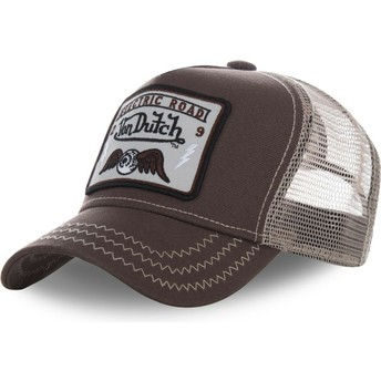 Von Dutch SQUARE2B Brown Trucker Hat