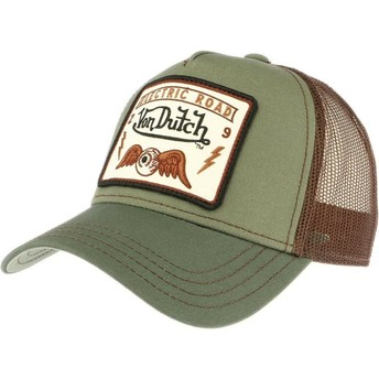 Von Dutch SQUARE6 Green Trucker Hat