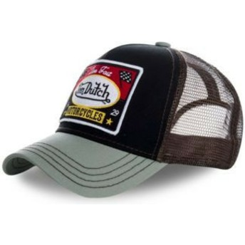 Von Dutch SQUARE18 Black and Grey Trucker Hat