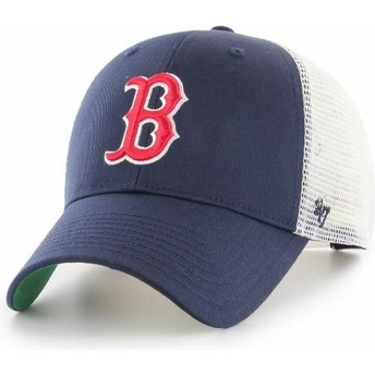 47 Brand Boston Red Sox MLB MVP Branson Navy Blue Trucker Hat
