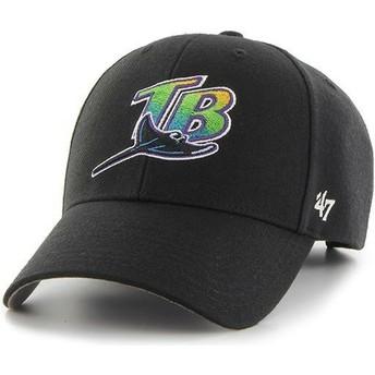 47 Brand Curved Brim Tampa Bay Rays MLB MVP Black Cap