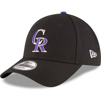 New Era Curved Brim 9FORTY The League Colorado Rockies MLB Black Adjustable Cap